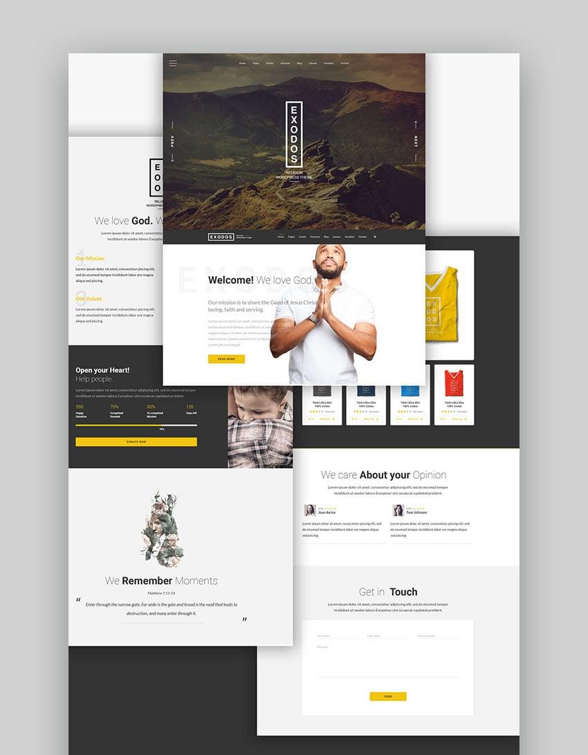 Exodos - Church WordPress Theme