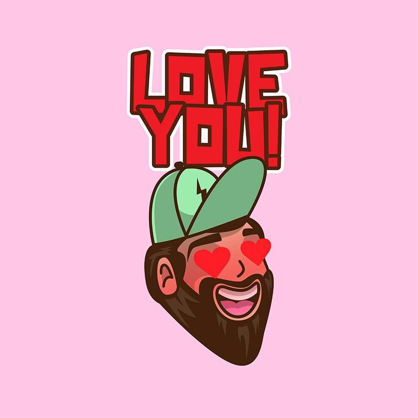 Custom Twitch Emote Maker With Funny Bearded Man