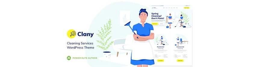 Clany Maid Service Website Template