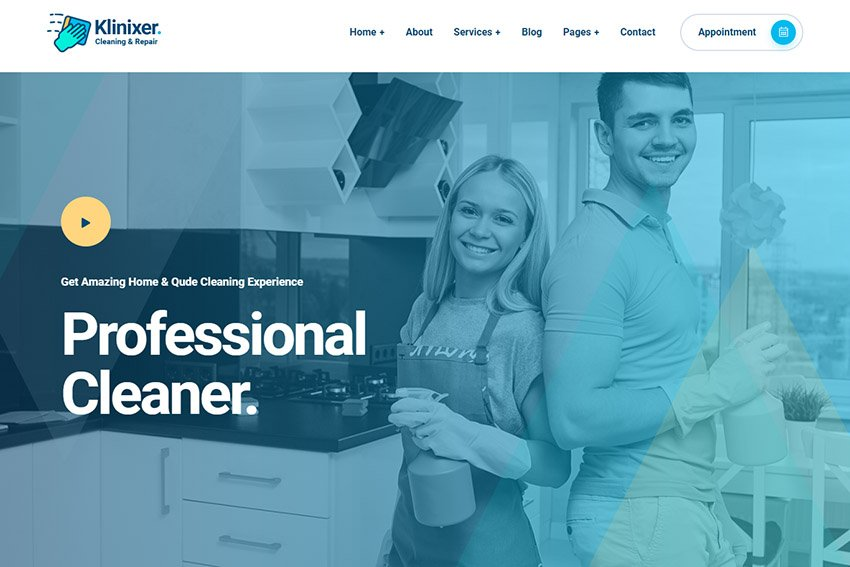 Klinixer Cleaning Service Template