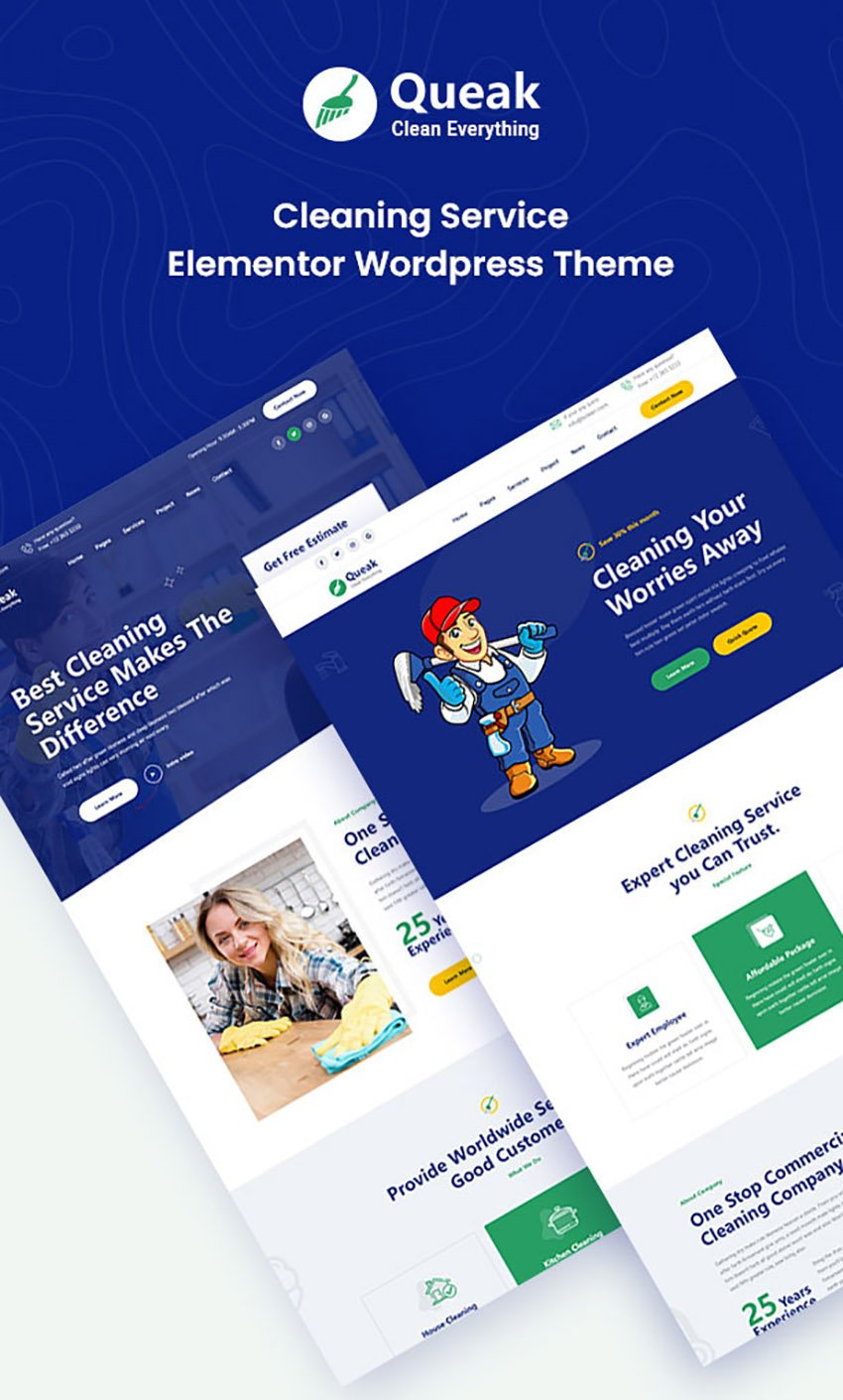 Queak Cleaning Service Template