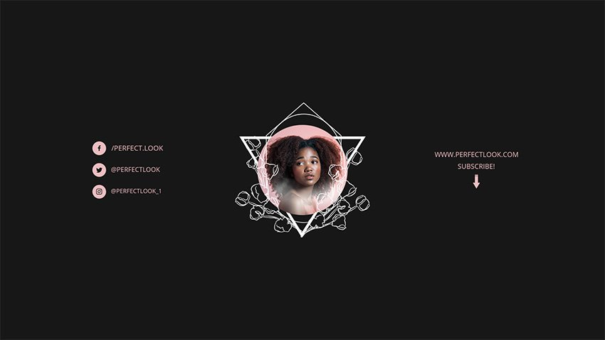 YouTube Banner Template Download Beauty Channel