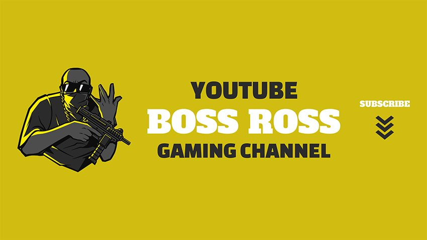 YouTube Banner Template Download Generator Gaming Channel