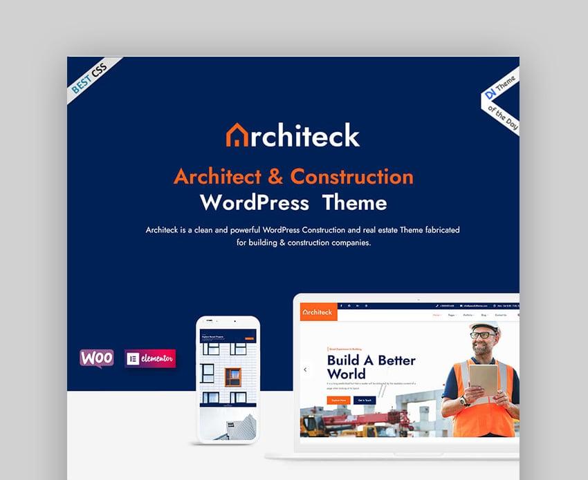 Architeck Template Construction Website WordPress