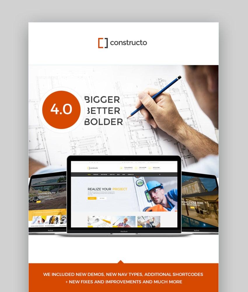 Constructo - Construction WordPress Theme