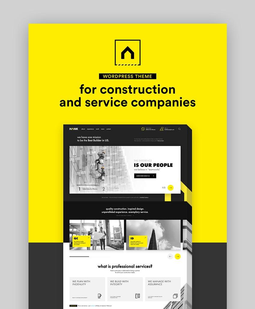 Hank Construction Company WP Theme