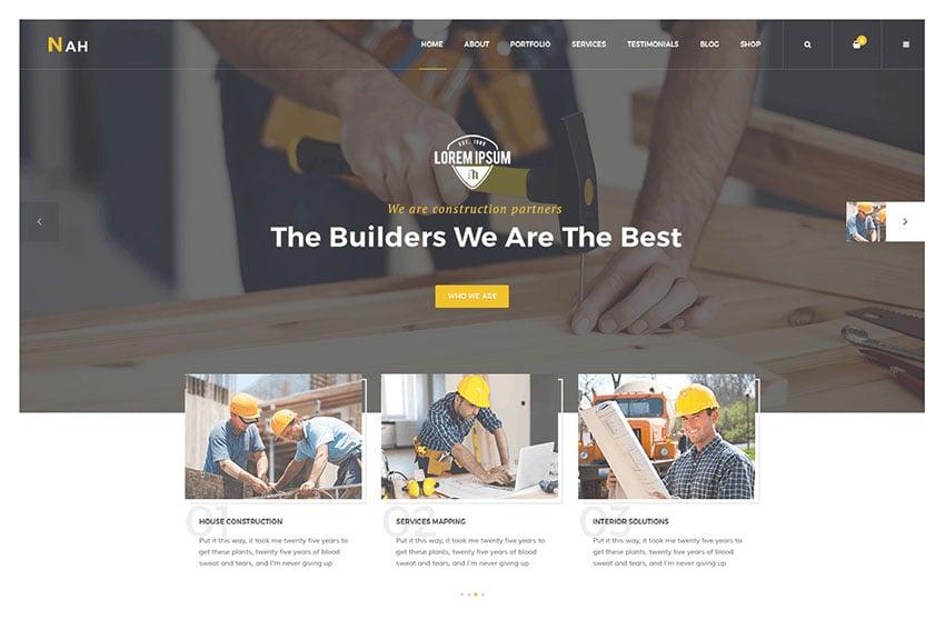 Nah Construction Website WordPress