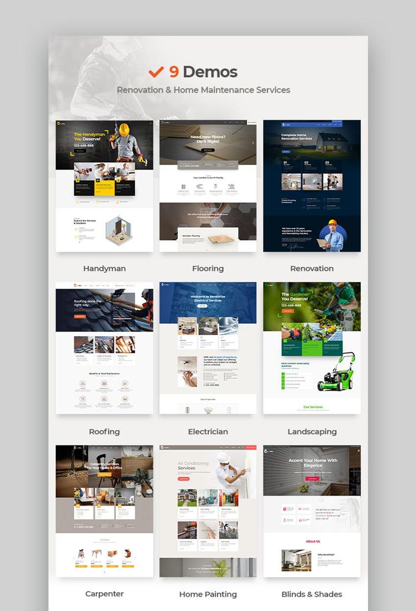 RenoWise Template For Construction Website WordPress