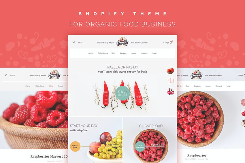 Foodly Shopify Grocery Shop Website Template