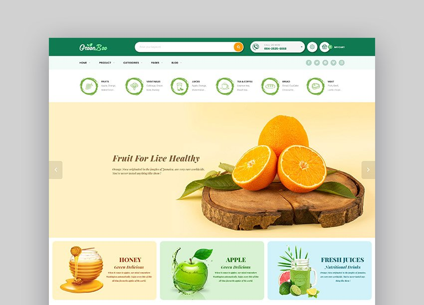 GreenBee Grocery Store Shopify Theme