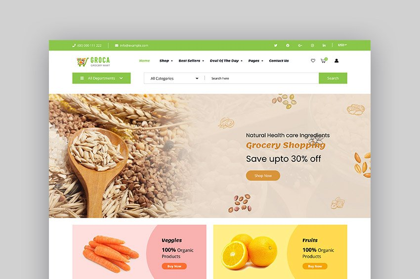 Groca Shopify Grocery Store Theme