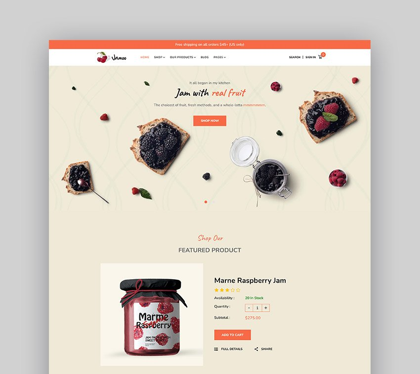 Jamoo Shopify Grocery Store Theme