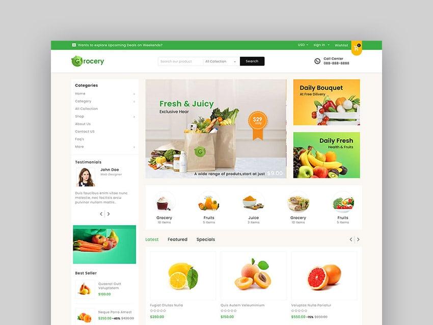 Mega Shop Responsive Grocery Theme