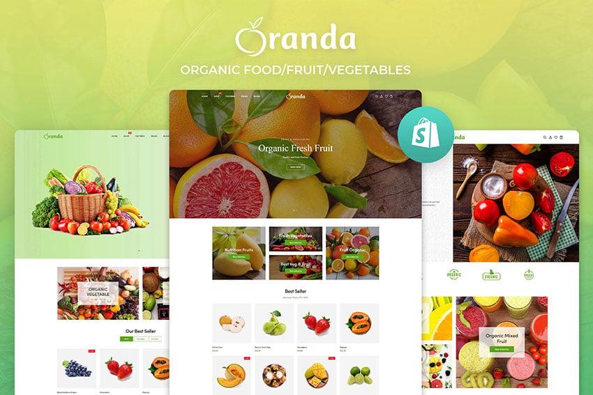 Oranda Shopify Organic Store Template