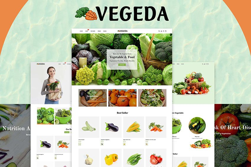 Vegeda Vegetable eCommerce Website Shopify Theme