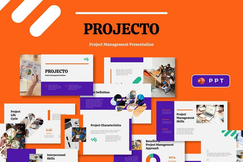 Projecto Change Management PPT Template