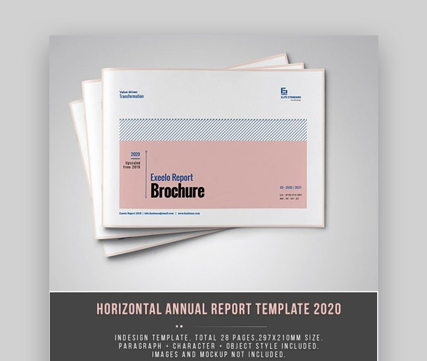Horizontal Annual Report Layout Design
