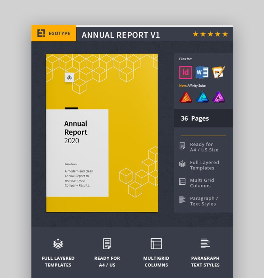 Yellow Annual Report Template