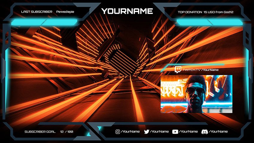 Elecwave Customize Twitch Channel with Overlay