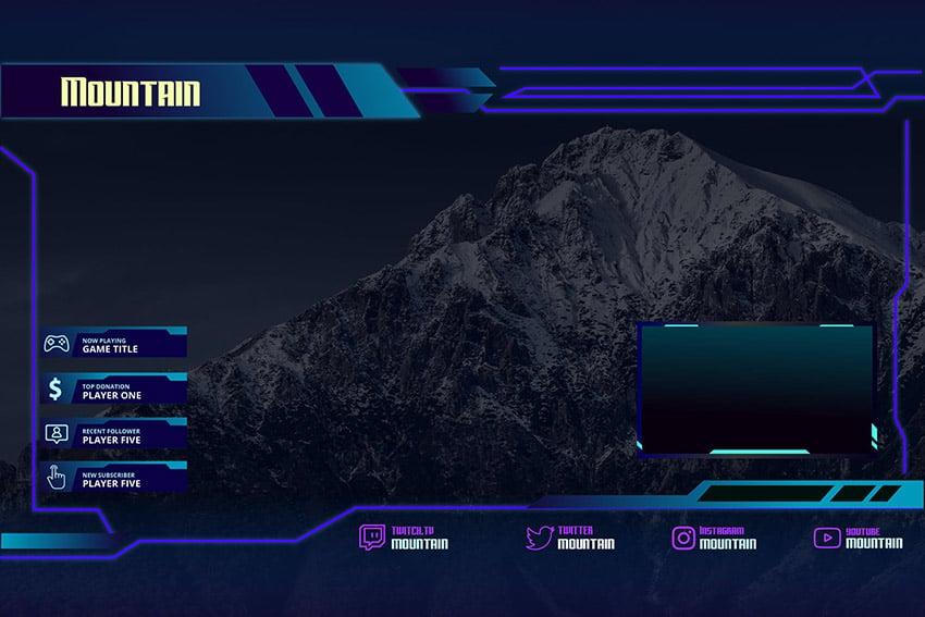 Mountain Custom Stream Overlay Download