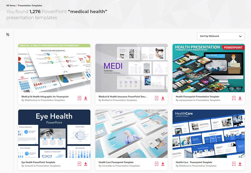 Top Medical  Healthcare PowerPoint presentation templates on Envato Elements