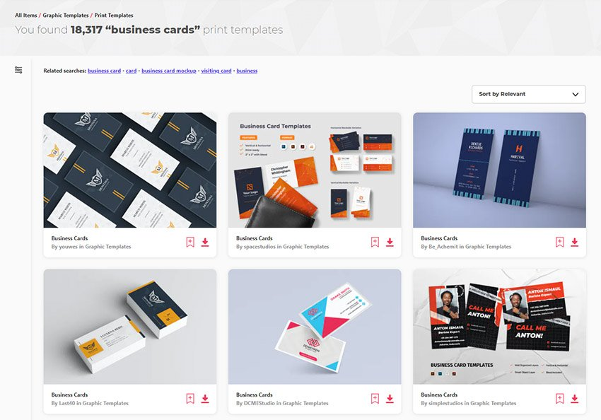 Most Innovative Business Cards for 2021 Envato Elements
