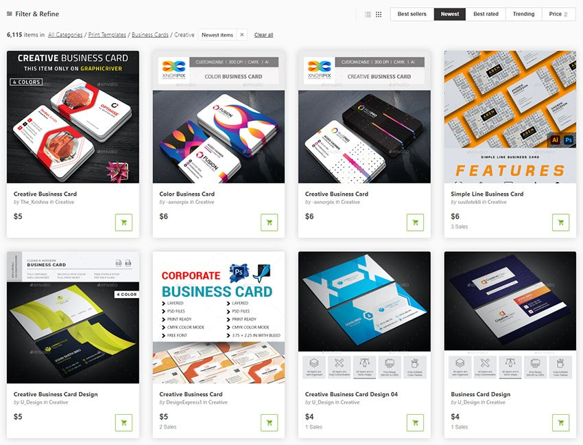 Most Innovative Business Cards 2021 GraphicRiver