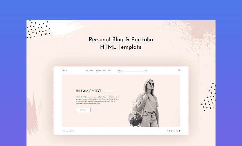 Emily Personal Blog HTML Web Page Template