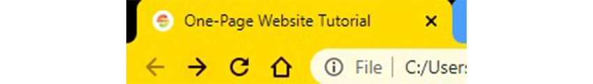 html code for website design project tutorial title tag