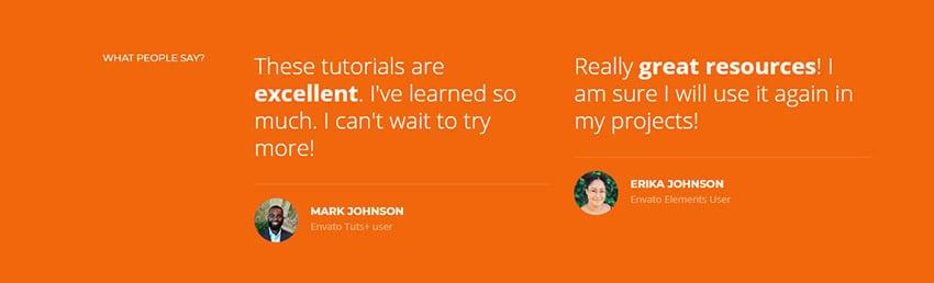 html leicht gemacht webdesign für anfänger tutorial testimonial section