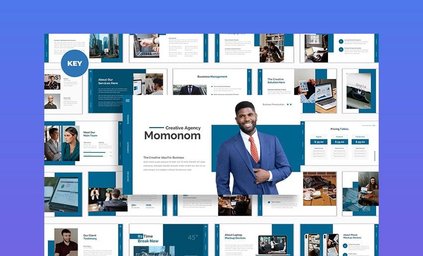 Momonom Business Keynote Template