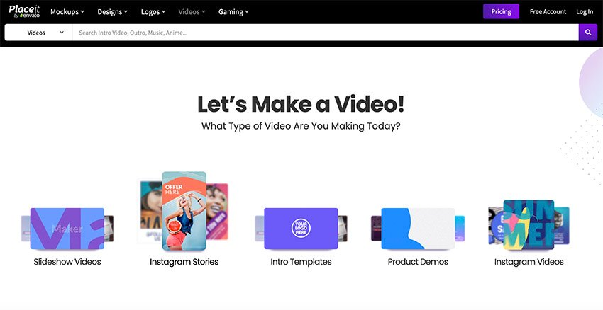 Placeit Online Video Generator and Maker Software Free