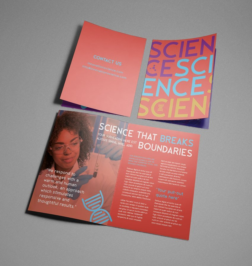 Science Adobe InDesign Brochure Tutorial