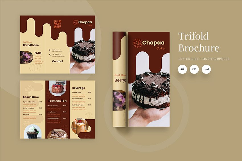 Trifold Product Brochure Design Template Download