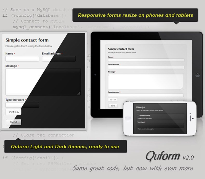 Quform AJAX Contact Form Template With User Email Verification
