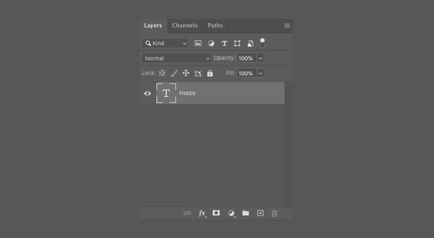 How to Add a Type Layer in Photoshop CC
