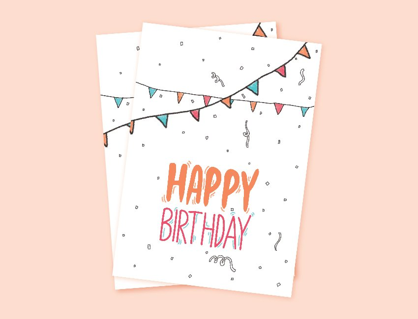How to Create a Printable Birthday Card Template on Photoshop
