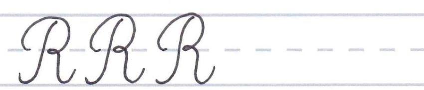 cursive calligraphy - capital r multiples