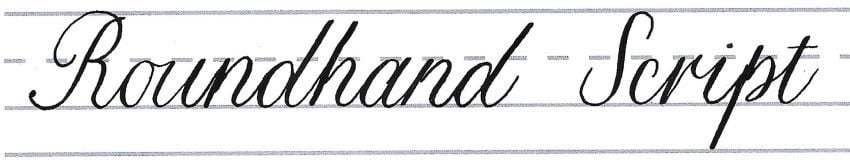 roundhand script - putting it together