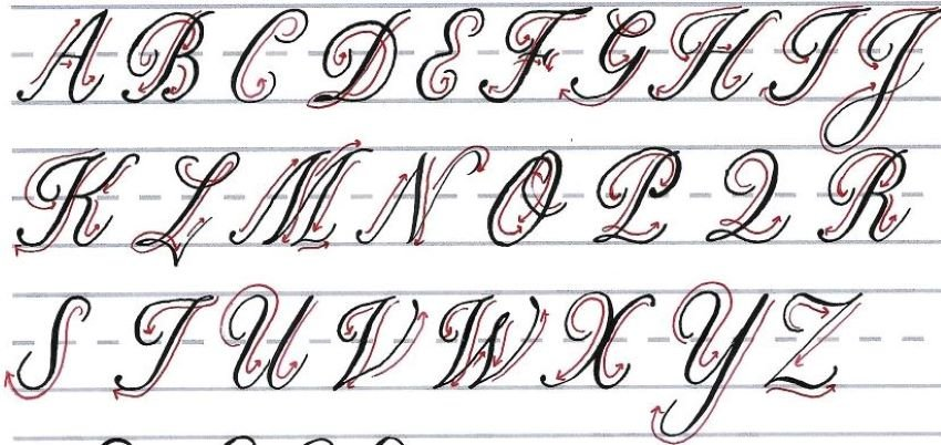 roundhand script - uppercase letters