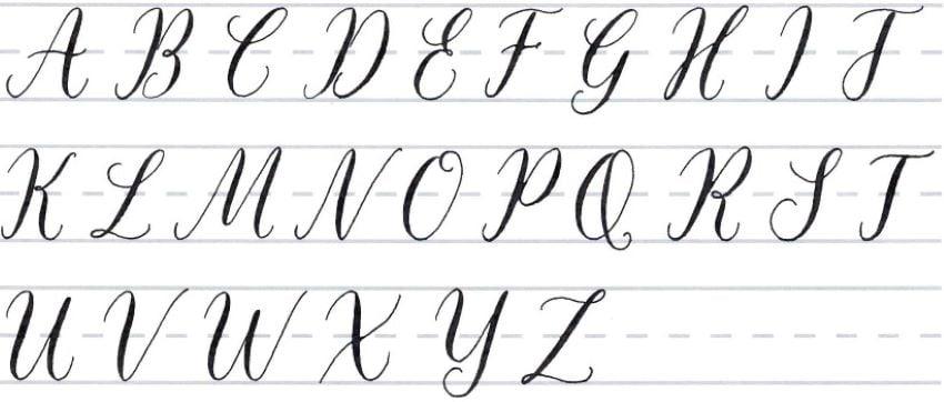 Calligraphy Fancy Alphabet Tutorial make your own font-uppercase alphabet 2