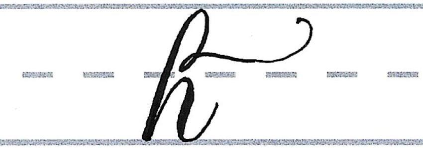 """h"" flourished"