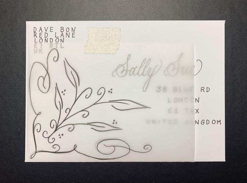 Envelope tracing paper