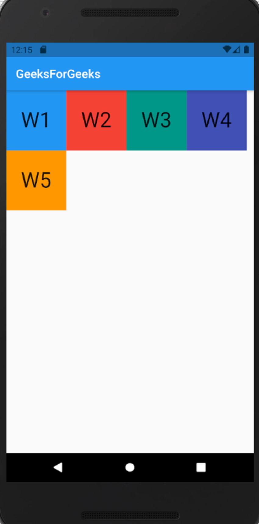 Wrap Widget horizontal alignment