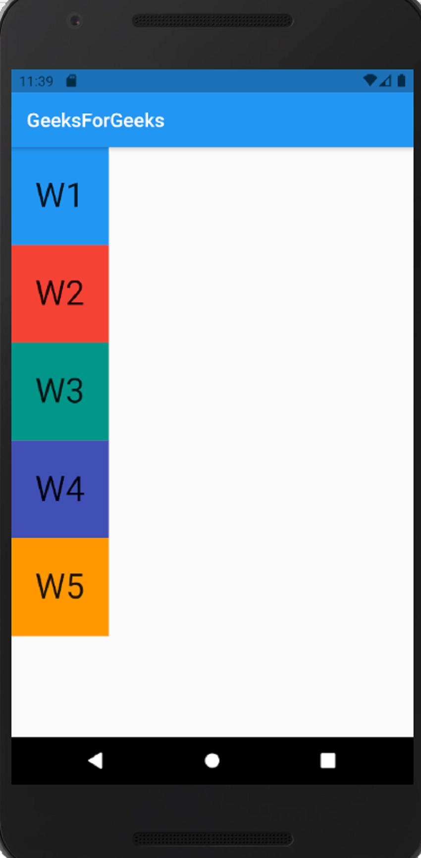 Wrap Widget vertical alignment