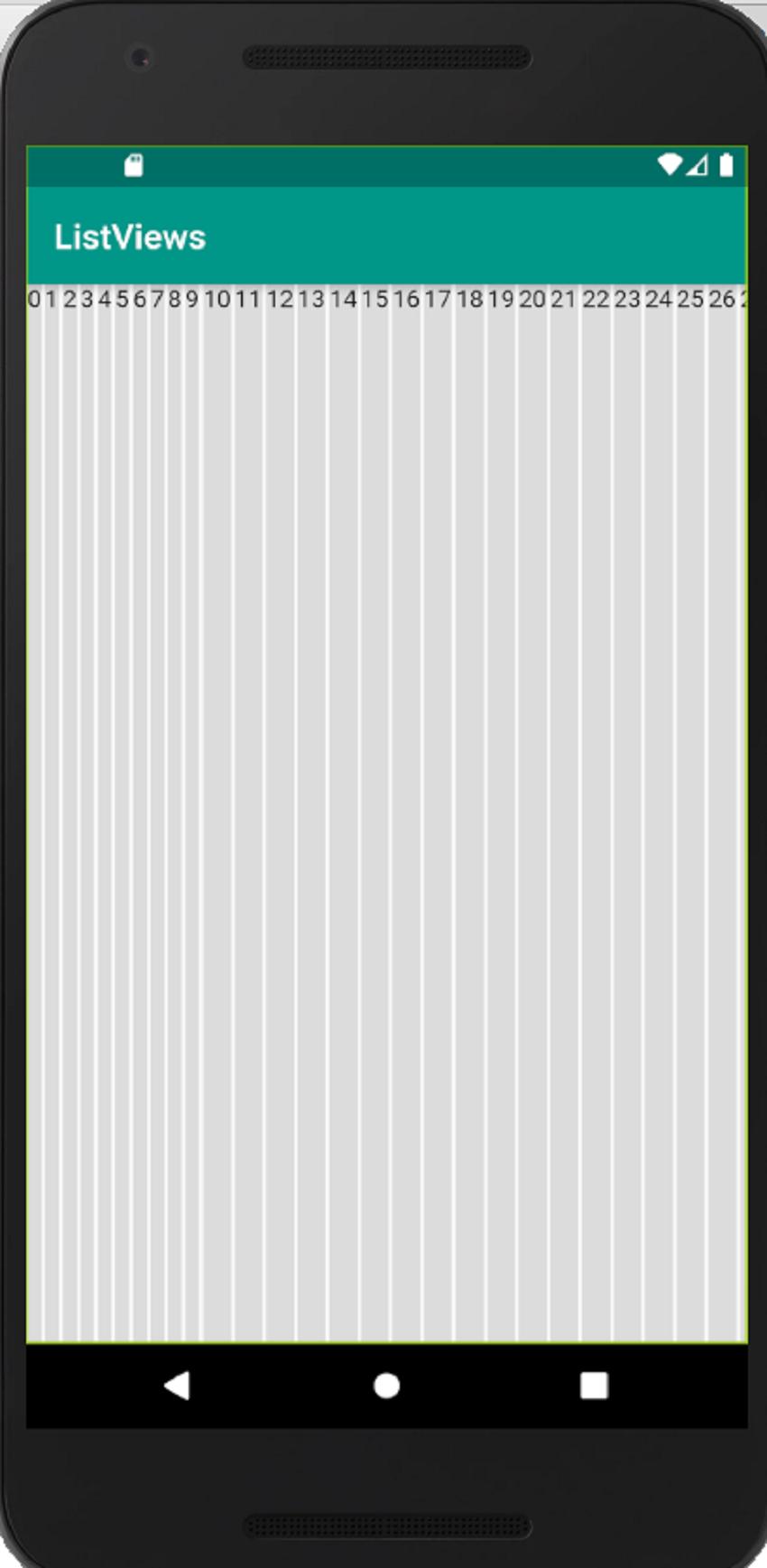 horizontal list