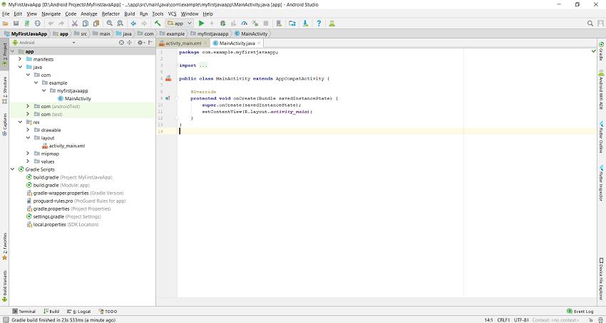 main code editor
