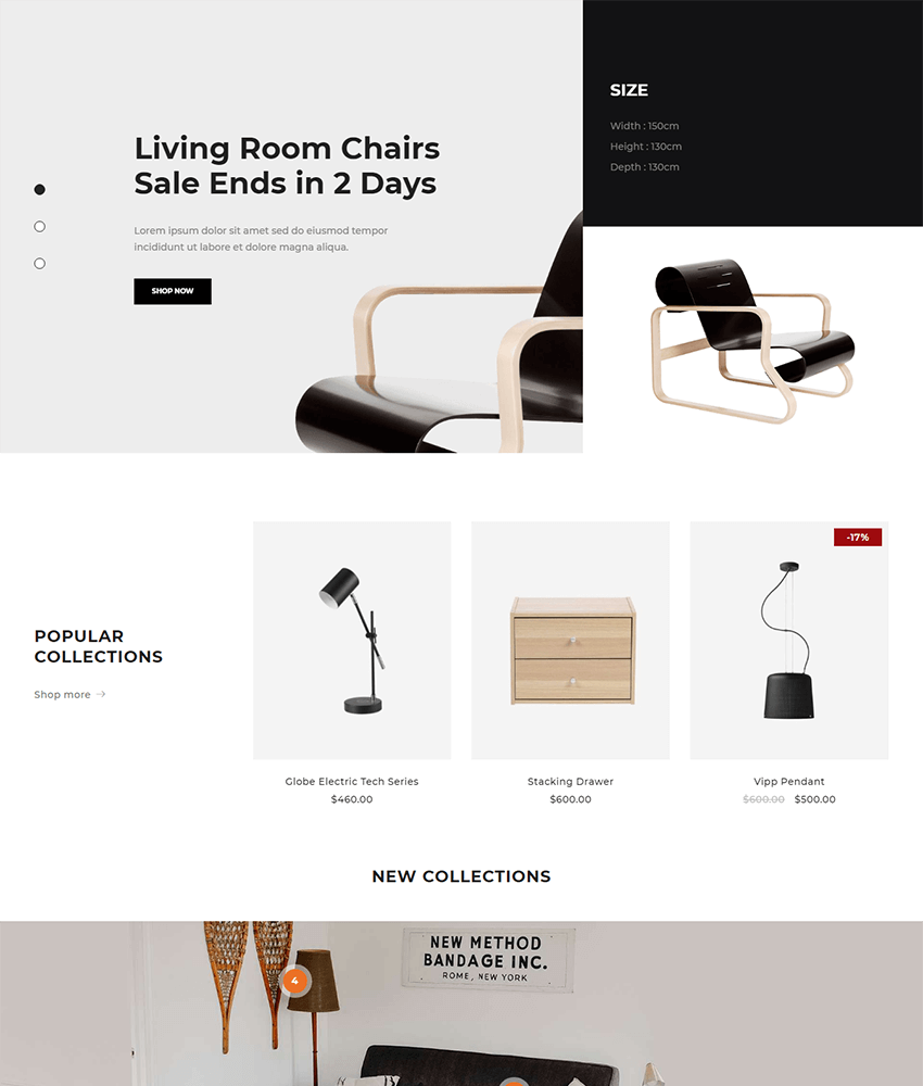 Drile - a woocommerce theme for furniture stores