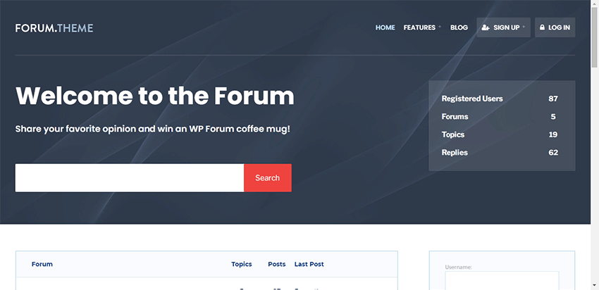 Forum - a wordpress theme for online forums