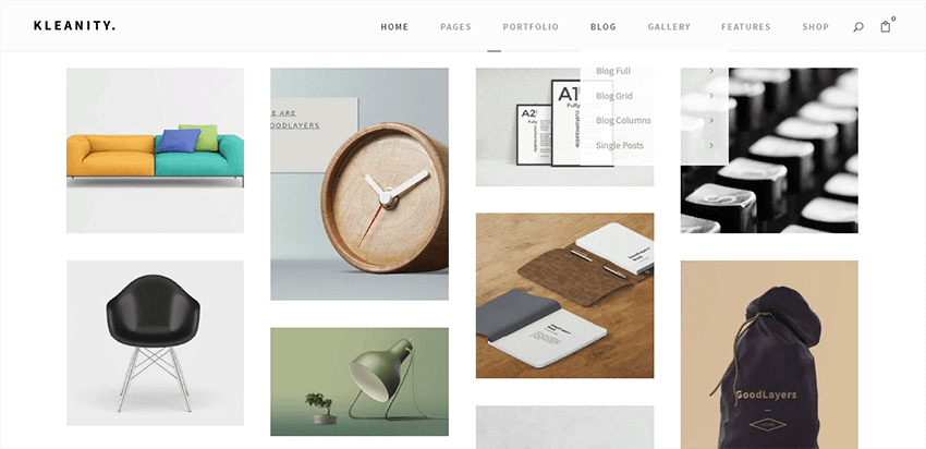 Kleanity is an excellent choice for creating a minimalist portfolio website